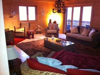 Leysin chalet photo - Living area with a view