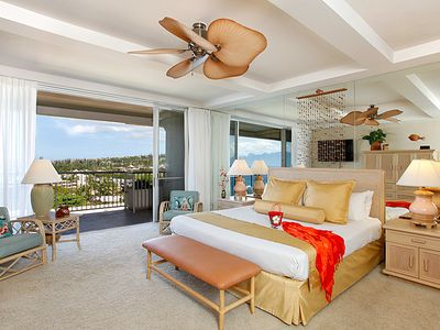 Master Bedroom offers both ocean and golf course views