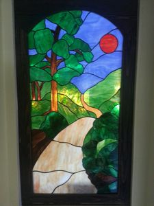 Yellow Brick Road Stained Glass