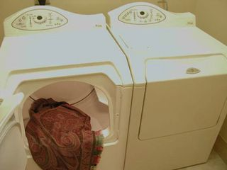 Highlands house photo - An enclosed laundry room is conveniently located off the hallway