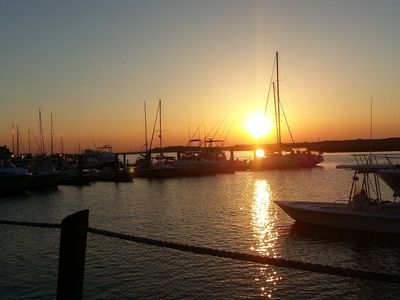 Watch the sun set from Bohicket Marina