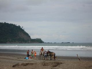 Jaco condo photo - Horses on the beach