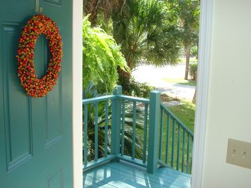 Beaufort townhome rental - Front door leading to King Street and downtown