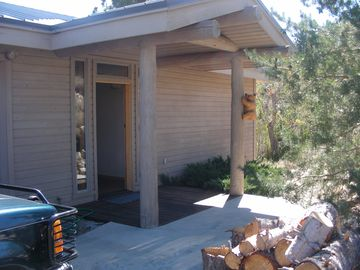 Lundy Lake house rental - front door