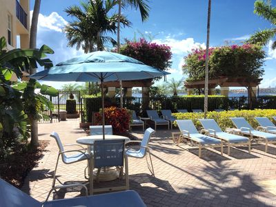 Enjoy the Intracoastal View at the Pool