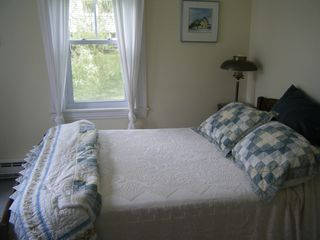 Castine cottage photo - Light and airy master bedroom with double bed