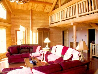 This magnificent cedar log home is breathtaking