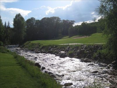 Gorgeous summer view of the river from the nearby Rolling Stone Golf Course.