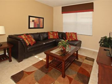 Family room with comfortable sofa bed