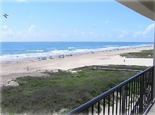 A great beach view from condo 405. looking across the Gulf toward the Southeast.