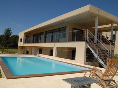 Modern luxury villa with private pool and stunning views