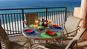 Orange Beach condo rental - CHAMPAGNE BREAKFAST ON YOUR BALCONY: A GREAT START TO MANY HAPPY DAYS TO COME!