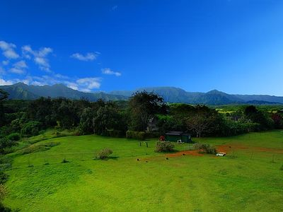 Aerial View of Our Horse Pasture and Surrounding Mountains