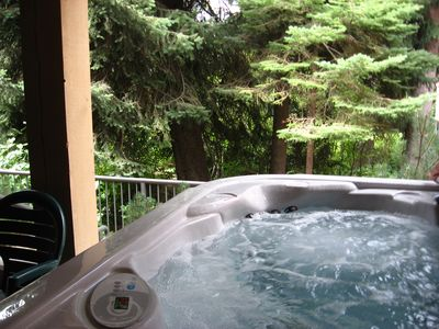Relax in your own private hot tub