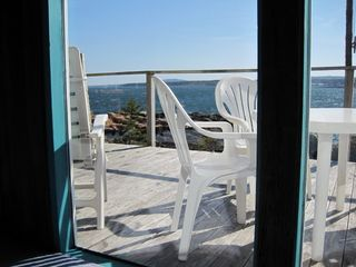 Prospect Harbor cottage photo - ocean and deck