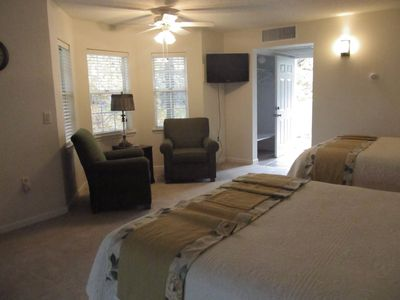Relax in your comfortable room after a day on the golf course or out of the lake