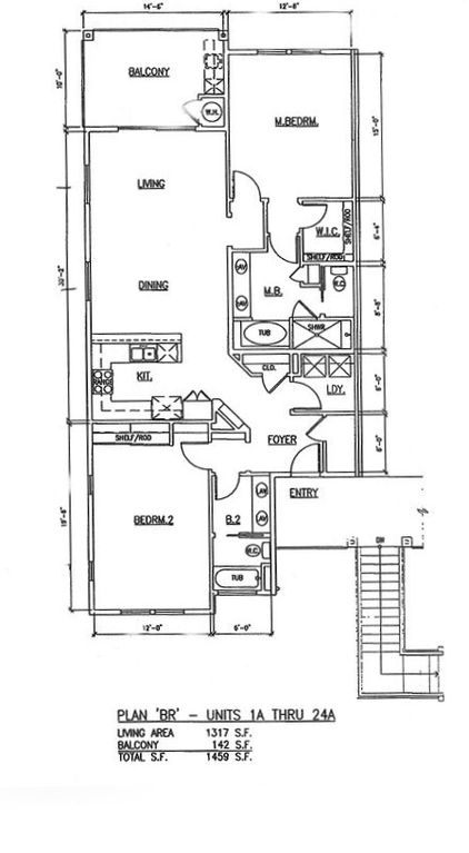 Floor Plan for villa 8A in the Halli Kai on the second floor
