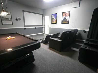 The uniquely fantastic home theater - and the accompanying Pool Table -