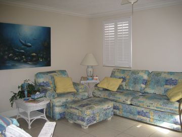 St Pete Beach condo rental - Living area queen sofa bed for extra guests