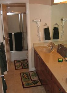 Bath with double vanity and separate shower/commode- multi user!