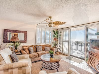 Gulf-Front 2 bedroom condo at Gulf Winds; Steps from the Surf! Free WiFi.Pool