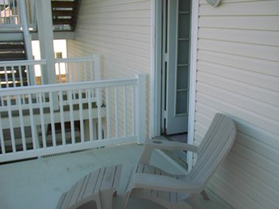 Another view of 2nd FL rear private porch - excellent for morning tanning...