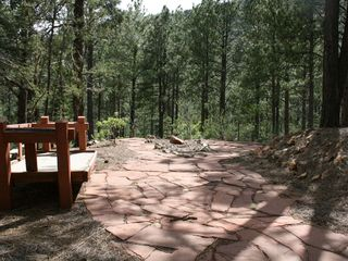 Santa Fe cabin photo - stone patio