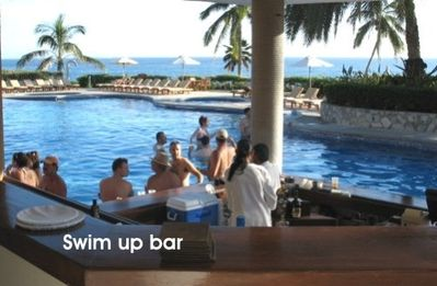 Swim up bar and restaurant