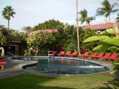 Spend the day relaxing in the sun next to one of the 2 pools on the property