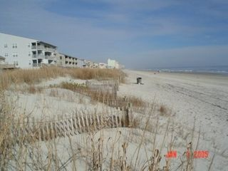 Cherry Grove Beach condo photo - View looking north out front of condo