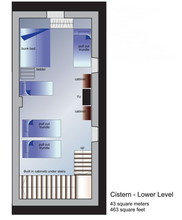 Cistern, Lower Level-Floorplan