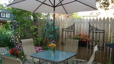 Toronto house rental - Relax in our quiet courtyard and read a good book!