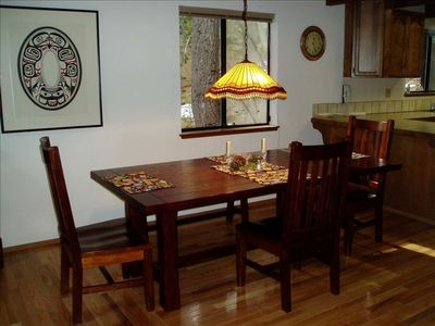 Large Dining Room table, perfect for family gatherings, or a game in the evening
