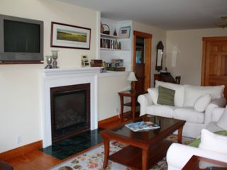 Oak Bluffs house photo - Living area; sofa is a queen pullout bed.