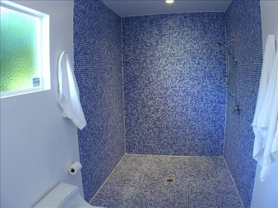 The fantastic shower located in Master Suite #2 bathroom