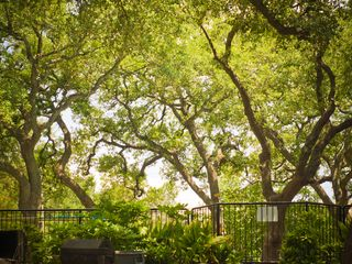 Austin apartment photo - Canopy of Live Oaks surrounding pool and hot tub just outside w/ BBQ pits.