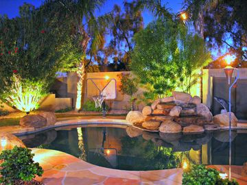 Gilbert house rental - Relax in your private, fenced in heated pool with a waterfall!