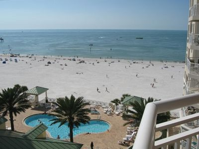 Beautiful view of the Gulf of Mexico from main balcony on best part of beach .