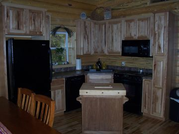 Rustic Hickory Cabinet Kitchen