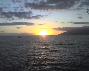 Kihei condo photo - Sunset from Kamaole Beach