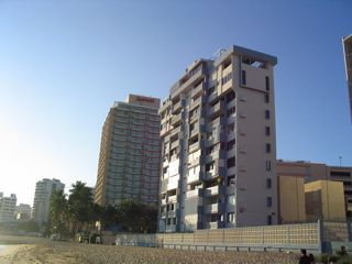 View of the condo from the west..every unit has an ocean view....