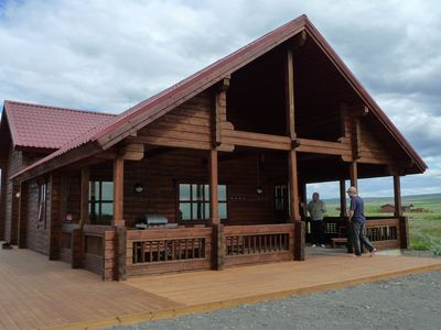 South Iceland cottage rental - Very large house on 2 floors, with large deck area