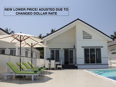 Exclusive beach villa with private pool, terrace and sea view