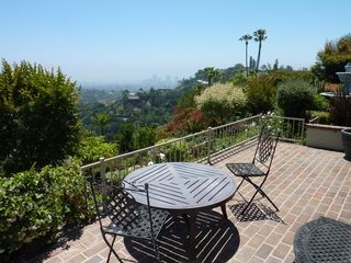 Beverly Hills cottage photo - Private Patio with City View