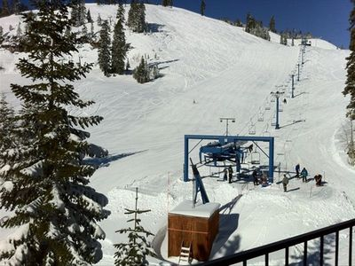 View of Donner Ski Ranch Resort from living room and balcony