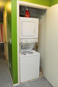 Condo equipped w/ washer and dryer combo for your convenience.