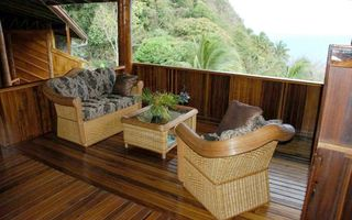 Soufriere house photo - Master Bedroom Sitting Area with ocean view
