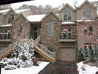 Big Boulder townhome photo - Center unit in winter with plenty of room and garage.