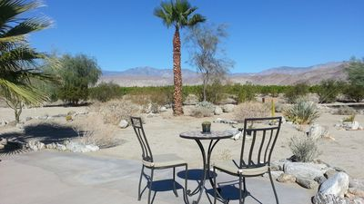 Borrego Springs house rental - Front entry patio with views of Toro Peak and the Coyote Mountains