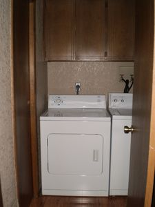 Convenient washer & dryer to wash a load of laundry - pack less!